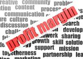 Business work of profit margin — Stock Photo