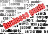 Business goals — Stock Photo