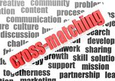 Business work of cross-matching — Stok fotoğraf