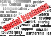 Business work of social business — Stock Photo