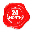 Stock Photo: Twenty four month warranty seal