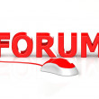 Mouse and Forum — Stock Photo