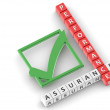 Performance assurance buzzword — Stock Photo