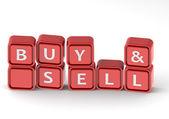 Buy sell buzzword — Stock Photo