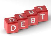 Debt buzzword — Stock Photo