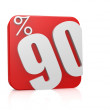 90 percent in cube — Stock Photo