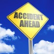 Accident ahead — Stock Photo