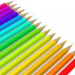 Color pencil line up — Stock Photo