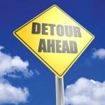 Постер, плакат: Detour ahead