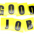 Good job in yellow note — Stock Photo #34308101