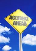 Ongeval vooruit — Stockfoto