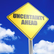 Stock Photo: Uncertainty ahead