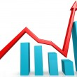 Recovery graph — Stockfoto