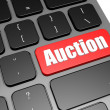 Auction with black keyboard — Stock Photo