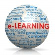 E-learning sphere — Stock Photo