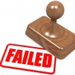 Failed word on wooden stamp — Stock Photo