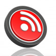 RSS feed round icon — Stock Photo
