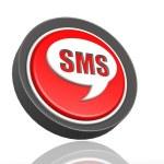 SMS round icon — Stock Photo #34369115