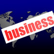 Business word on the blue world map — Stock Photo