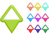 Triangle markers — Stock Photo