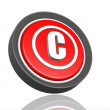 Stock Photo: Copyright round icon