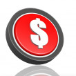 Dollar round icon  — Stock Photo