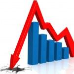 Ground breaking graph — Stock Photo