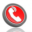 Phone round icon — Stock Photo