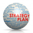 Strategy plan sphere — Stock Photo