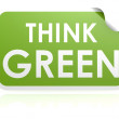 Stock Photo: Think green sticker