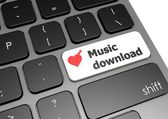 Music download — Stockfoto