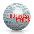 Business ethics sphere — Stock Photo