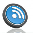 RSS feed round icon in blue — Stock Photo #34452011