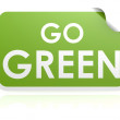 Go green sticker — Stock Photo