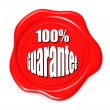 100 guarantee stamp — Stock Photo