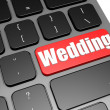 Wedding with black keyboard — Stock Photo