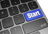 Start with black keyboard — Stockfoto