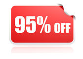 95 percent off sticker — Stock Photo
