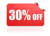 30 percent off sticker — Stock Photo