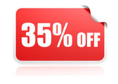 35 percent off sticker — Stock Photo