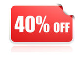 40 percent off sticker — Stock Photo