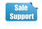 Sale support blue sticker — Stock Photo