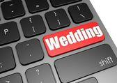 黒いキーボードとの結婚式 — ストック写真
