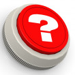 Question mark button — Stock Photo