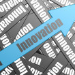 Innovation arrow — Stock Photo