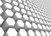 White hexagon pattern — Stock Photo