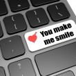 You make me smile — Stock Photo