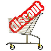 Discount cart — Stock Photo