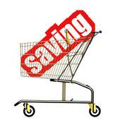 Saving cart — Stock Photo