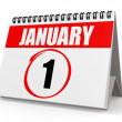 January 1 calendar — Stock Photo #34611317